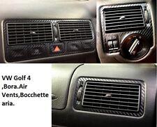 VW Golf-4,Bora Set Adesivi per Bocchette aria di fibra in carbonio,Air Vents