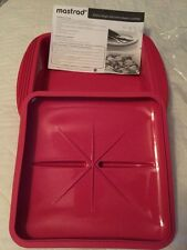 New listing Mastrad Extra Large Silicone Square Steam Cooker Raspberry New