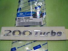 "Genuine 2013 Hyundai Genesis Coupe ""200 Turbo"" Trunk Emblem"