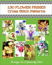 130 Flower Fairy Counted Cross Stitch Patterns On A DVD