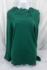 EDC Esprit Jumper Long Sleeve Sweater Womens Large Green Polo Neck Turtle Neck L