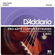 5x Packs D'Addario EJ65C Pro Arte Clear Ukulele Strings to Suit Concert Ukulele