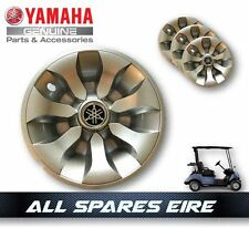 GENUINE YAMAHA GOLF CART BUGGY WHEEL COVERS HUB CAPS FITS ALL YEARS & MODELS (4)