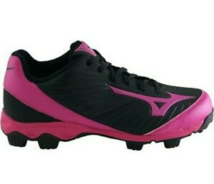 New Mizuno 9-Spike Pink Black Adv. Finch Franchise 7 Softball Cleats *Size 9*