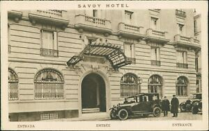 Madrid    The Savoy Hotel   vintage view    Cars & Chauffeurs          D4/688