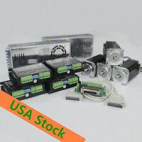 [ EU*US FREE ] 4axis Nema23 425oz-in 4.2A Single shaft& Driver  18-50v  cnc KIT