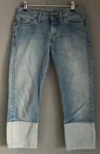 Pre-owned Faded Blue Denim REPLAY Cropped Skinny Leg Jeans Size 26W