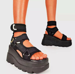 Womens Chunky Wedge Platform Sandals Summer Open Toe Ankle Strap Gladiator Shoes