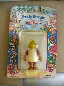 "Worlds of Wonder 1985 3"" TEDDY RUXPIN figure in original blister package mf RARE"