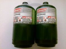 COLEMAN Propane Gas Fuel Cylinder 16 oz 1lb Outdoor Camping Stove Fuel LOT OF 2