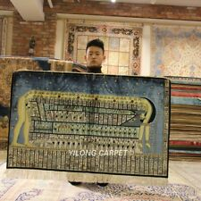 Yilong 4'x2.5' 300 Lines Egypt Tapestry Area Rug Hand Knotted Silk Carpets L116A