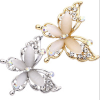 Fashion Gold/Silver Plated Crystal Rhinestone Butterfly Brooch Pin Women Jewelry