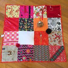 Orange, Red, Pink Sensory,Activity,Therapy,Memory, Dementia Blanket,  95cmx95cm