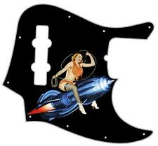 J Bass Pickguard Custom Fender Graphical Guitar Pick Guard Pin Up Giddy Up BK