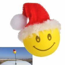 Smiley Happy Face Christmas Santa Claus Car Antenna Pen Topper Aerial Ball New