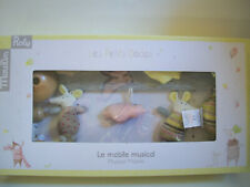 Moulin Roty Les Petits Dodos Musical Hanging Baby Mobile Mice and Clouds *Nib*