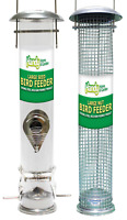 LARGE Deluxe Wild Bird Hanging NUT and SEED feeder BUNDLE