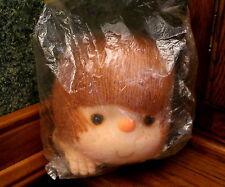 "Vintage Doll Crafting 6"" Angie Head & Hands Red Yarn Hair Doll Head Mitzi Nip"