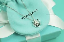 "AUTHENTIC Tiffany & Co. Sterling Silver Daisy Pendant Necklace 16"" (#1114)"