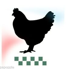 Stencil Vintage Chicken with Checks for Crafts Signs Country Farm Poultry