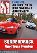 Test Pkw Opel Tigra Twin Top Mazda MX-5 Mini Cabrio Test Auto Bild 11/06 2006