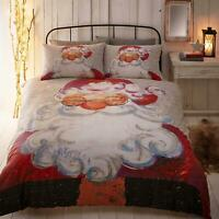 Santa Duvet Covers Red Father Christmas Santa Claus Kids Quilt Cover Bedding Set