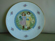 1976 Royal Doulton Valentine's Day Plate, Mint, Victorian Boy & Girl, Bouquet!