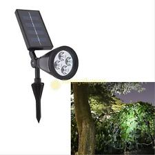 4 LED Solar Landscape Path Spot Flood  Lights Spotlight Outdoor Garden Lighting