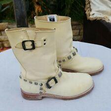 Women's FRYE Leather Fashion Buckles Boots Sz. 8.5 B
