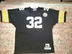 Franco Harris HOF Mitchell & Ness Throwback Black Steelers Jersey-Size 60-GUC