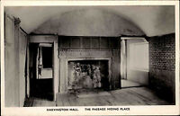 Harvington Hall Worcestershire vintage postcard ~1950/60 Passage hiding place