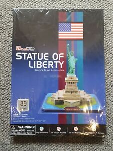 NEW & Still Sealed Statue of Liberty 39pc 3D Puzzle Architecture FREE POST