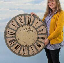 Orologio GIGANTE faccia enorme stile vintage non funzionante