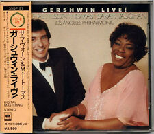 SARAH VAUGHAN M.T.THOMAS Gershwin Live JAPAN 1st Press CD 35DP57 W/Box Obi