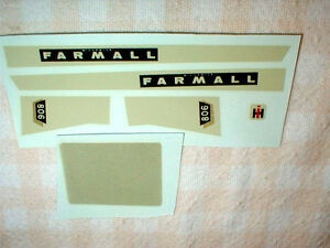 1/16 Scale McCormick Farmall 806 Farm Toy Decals Water Transfer 1 set NOS
