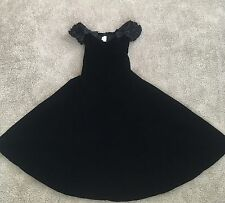 Vintage Moda Int'l Women's Black Velvet Black Dress Size 10
