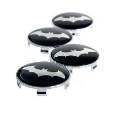 4x Dark Knight Batman Emblem Badge+Base Car Tyre Wheel Rim Hub Cap Decal Sticker