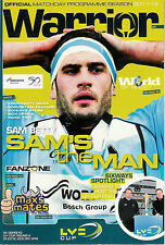 Worcester Warriors v Ospreys LV Cup 4 Feb 2012 Worcester RUGBY PROGRAMME
