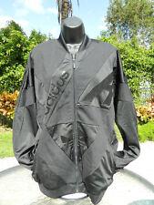 Authentic $90 Adidas Archive Series Sz L Zipper Supr TT Jacket Blk/Blk NWT