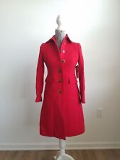 Italian double-cloth wool lady day coat with Thinsulate 00 Petite red