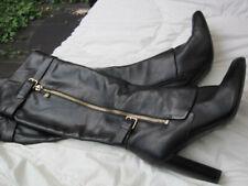 Lederstiefel Gr. 41, schwarz, Guess, echtes Leder, 10 cm Absatz,