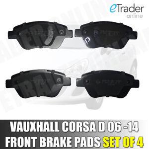 VAUXHALL CORSA D MK3 FRONT BRAKE PADS BRAND PREMIUM QUALITY 2006 - 2015 PAD SET