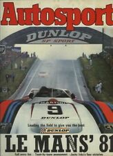Autosport 1981 LE MANS YEARBOOK - Teams & Cars & Drivers