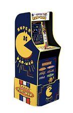 Arcade1Up Super Pac-Man Arcade Machine w/ Light Up Marquee & Custom Riser. Nib!