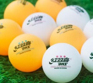 20 x DHS 3Star D40+ Table Tennis Ball, 2017 CELL-FREE-DUAL, GENUINE, NEW US