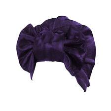 Women Shiny Bow Indian Hat Turban Cancer Chemo Hair Loss Cap Headwear