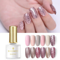 BORN PRETTY Glitter Shimmer UV Gel Polish  Rose Gold Nail Art Gel Varnish