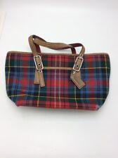 Coach leather & wool plaid  purse UC9