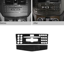 Carbon Fiber Center Console CD Panel Trim For Mercedes-Benz C Class W204 2007-10