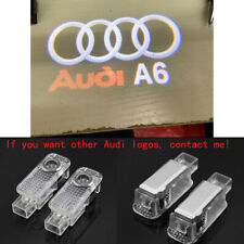 Audi A6 2X LED HD Logo Projector Emblem Ghost Shadow Light Door Puddle Lights